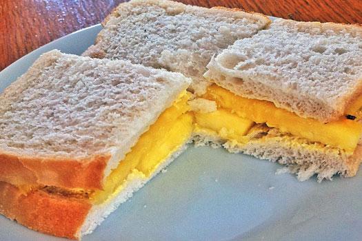 Pineapple sandwich - Ten weird and wonderful foods