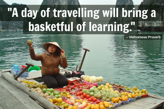 Travel Proverbs. Photo by M. King