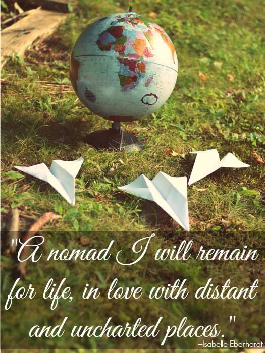 Inspirational Travel Quote. Photo by martinak15