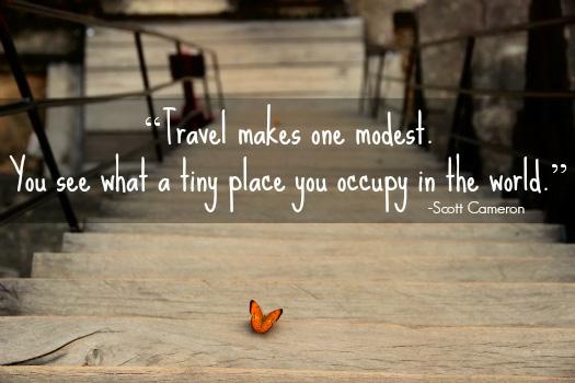 Inspirational Travel Quote. Photo by Manuela de Pretis