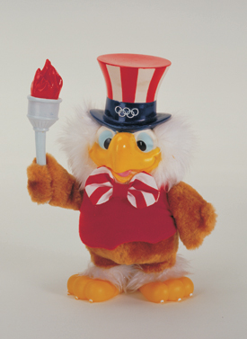 Sam the American Eagle, mascot of the 1984 Olympic Games in Los Angeles