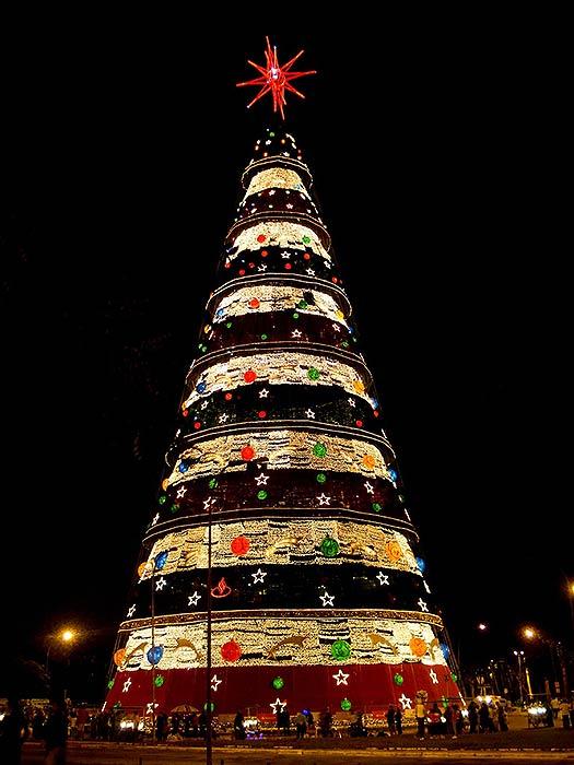Sao Paulo - Christmas trees with real bling