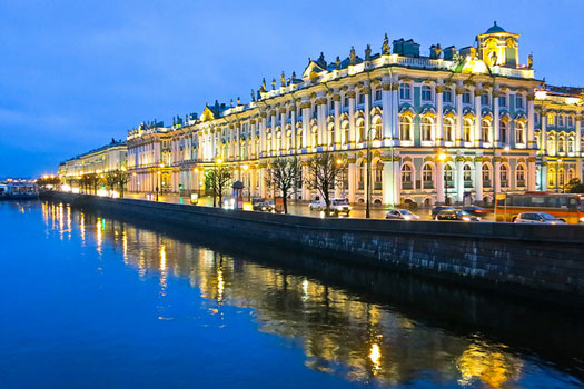 Early morning in St Petersburg, Russia