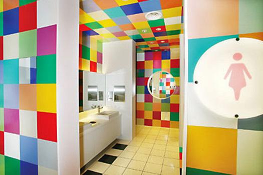 Chung Yo Department Store Bathrooms, Taichung City, Taiwan. Photo by Chung Yo Department Store.