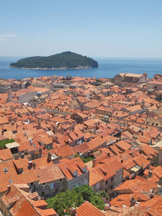 View from the city walls to Lokrum Island. Photo by Nick Hunt