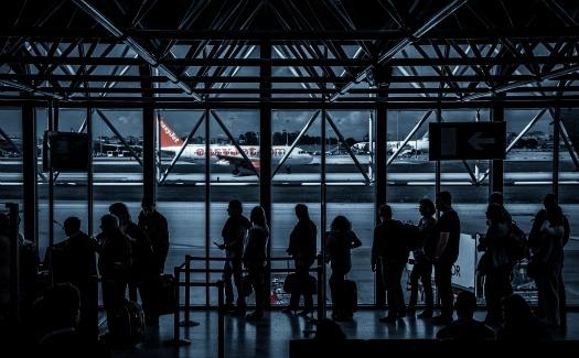 passengers waiting inside terminal