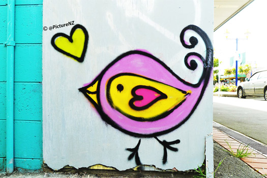 Street Art in New Brighton, Christchurch. Photo by Steve Taylor
