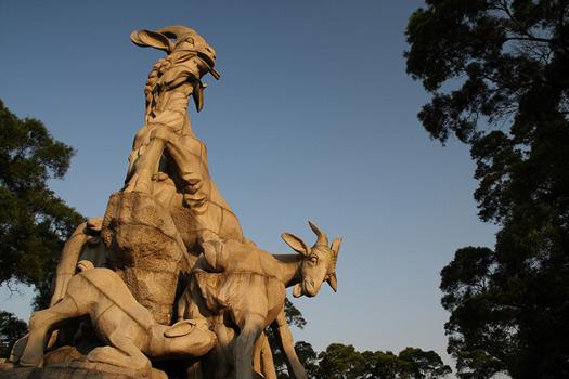 Five Rams Statue, Guangzhou, China. Photo: yeowatzup