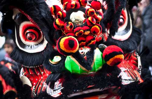 Dragon costume during Chinese New Year (Image: garryknight used under a Creative Commons Attribution-ShareAlike license)