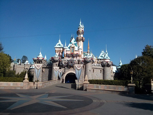 Disneyland Castle with Frozen livery. Photo: Cory Doctorow