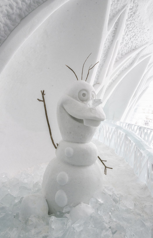 Do you want to build a snowman? At the Ice Hotel Quebec. Photo: Matias Garabedian
