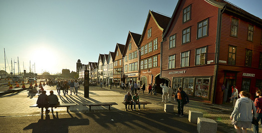 Bryggen in Bergen. Photo: Patrik Jones