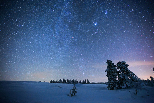 At the top of the world. A starry night in Lapland. Photo: Eddie Yip