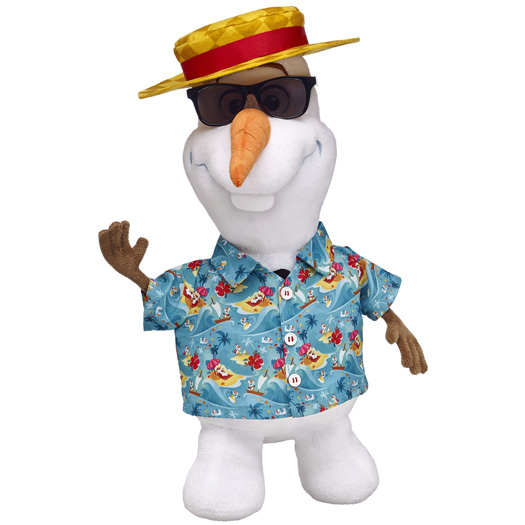 And Olaf dressed for summer. Photo: Build-A-Bear