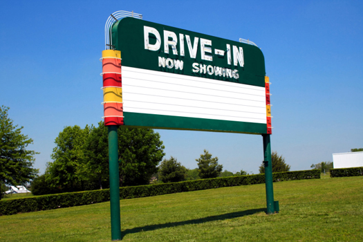 Drive In Sign © htwo0/iStock/Thinkstock [http://www.thinkstockphotos.co.uk/image/stock-photo-drive-in-movie-marquee-sign/146837667]