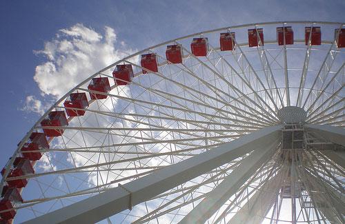 Ferris wheel at Chicago's Navy Pier (Image: libookperson)