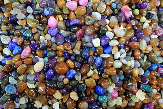 Gemstones might just be polished glass. Photo by Woody Hibbard