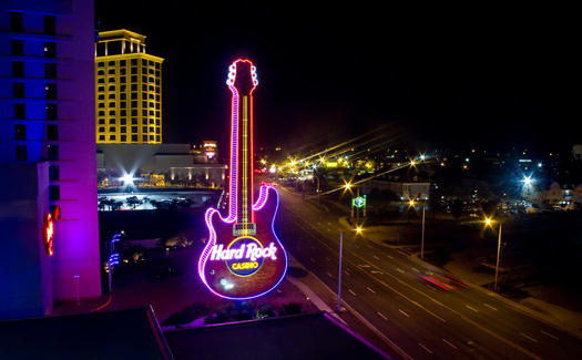 Some of the bright lights of Biloxi, Miss. (Image: digitizedchaos)