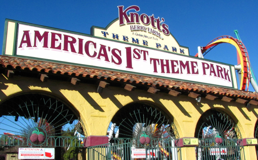 Knott's Berry Farm, known as America's first theme park (Image: rollercoasterphilosophy)