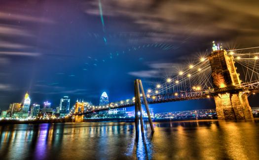 Nighttime in Cincinnati, Ohio (Image: frankpierson)