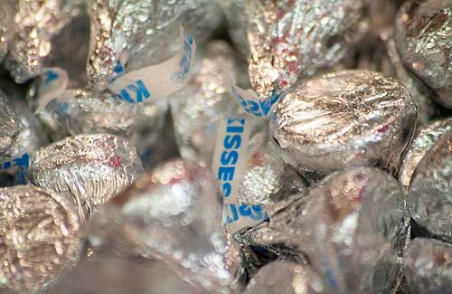 Hershey's Kisses (Image: LabyrinthX-2 used under a Creative Commons Attribution-ShareAlike license)