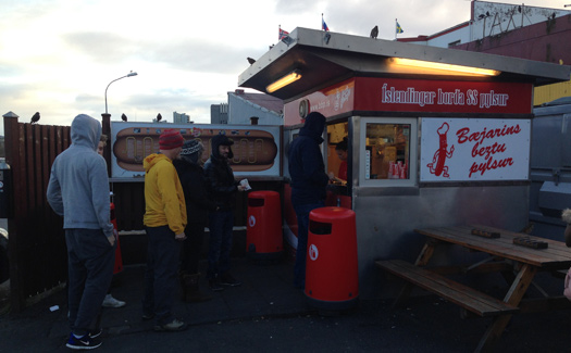 "Baejarins Beztu hot dog stand in Reykjavik -- one of our ""Top 10 hot dog hot spots!"""