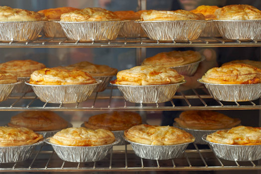 Classic pies. Photo by KO Catering & Pies