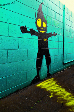 Street Art has been popping up in Christchurch since 2012. Photo by Steve Taylor