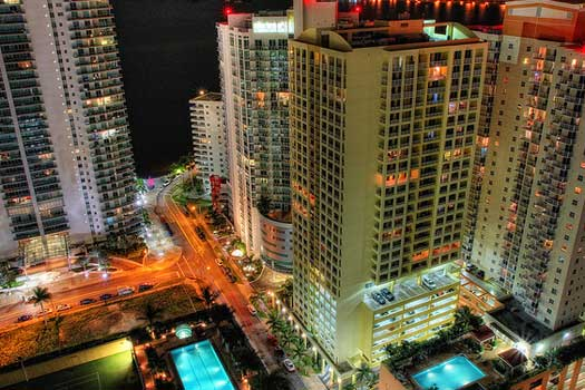 Downtown Miami from Conrad Lounge
