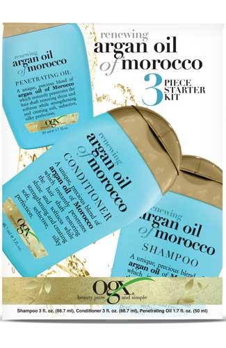 Organix Renewing Moroccan Argan Oil 3-Piece Starter Kit (Image: Organix)