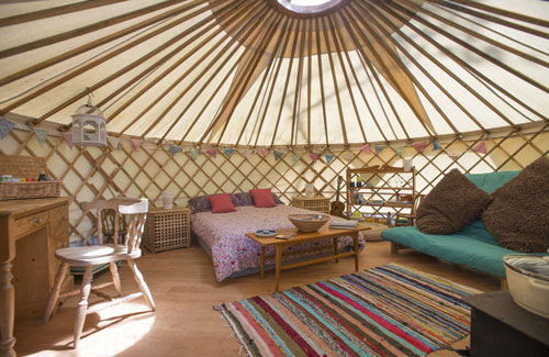 Places where you can stay in a yurt