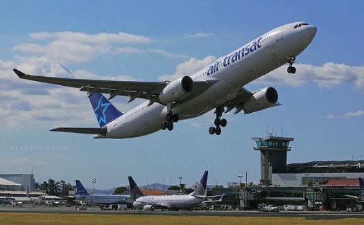 jetliner taking off