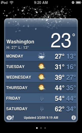 ios weather app screenshot