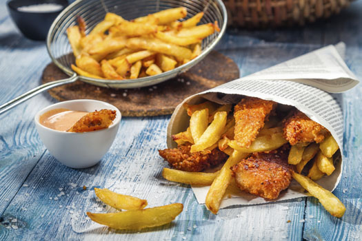 The Perfectionists' Cafe © Shaiith/iStock/Thinkstock (http://www.thinkstockphotos.co.uk/image/stock-photo-fish-chips-served-in-the-newspaper/179981894)