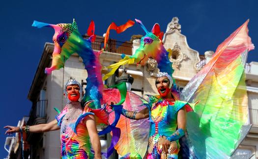 Ybridex AngeloDemon, Gay_Pride_Sitges_2015_Drag via Flickr CC BY-SA 2.0