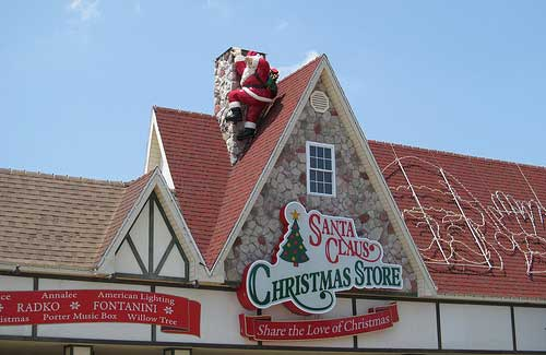 Santa Clause Christmas Store in Santa Claus, Indiana (Image: Dougtone used under a Creative Commons Attribution-ShareAlike license)