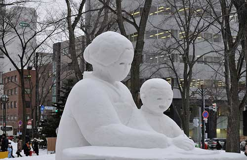 A snow sculpture at the Sapporo Snow Festival (Image: David McKelvey)