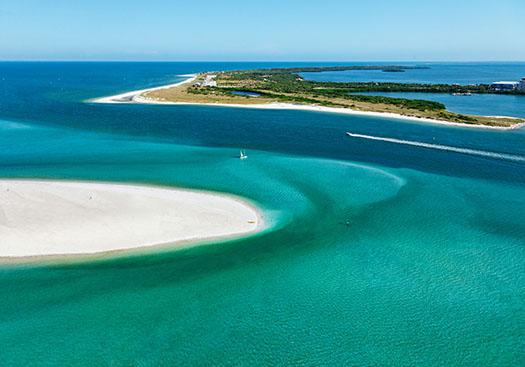 Honeymoon Island and Caladesi Island