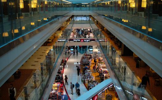 Duty free shops at Dubai International Airport (Image: Patrik Nemes used under a Creative Commons Attribution-ShareAlike license)