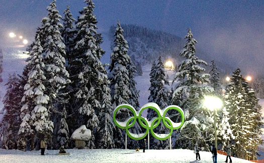 Olympic Rings at Cypress Mountain (Image: keepitsurreal used under a Creative Commons Attribution-ShareAlike license)