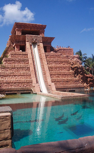 Temple slide, Bahamas