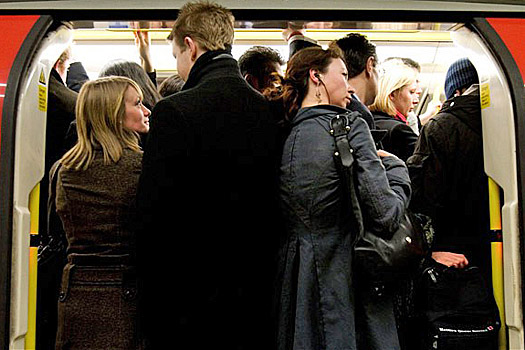 Busy trains are a pickpocket's dream. Photo by Ted Sullivan