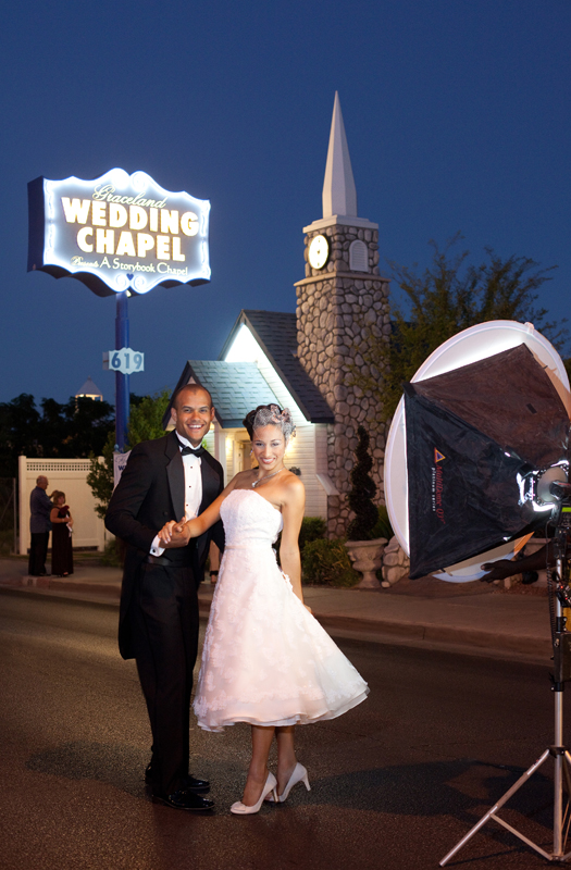 Tying the knot at Graceland Wedding Chapel (Image: Graceland Wedding Chapel)