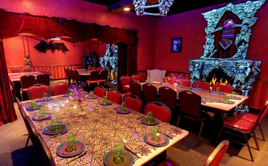 """The party room at the """"Hotter than Hell"""" Wedding Chapel (Image: Monster Mini Golf)"""