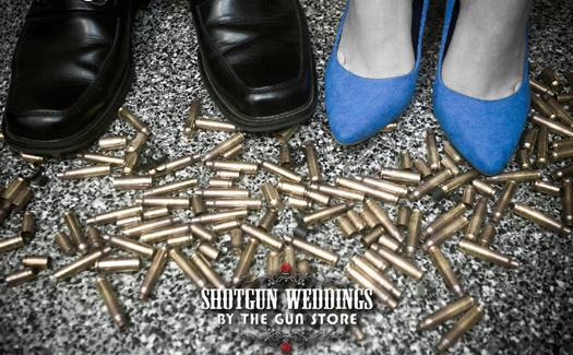 Gun shells and wedding bells! (Image: The Gun Store)