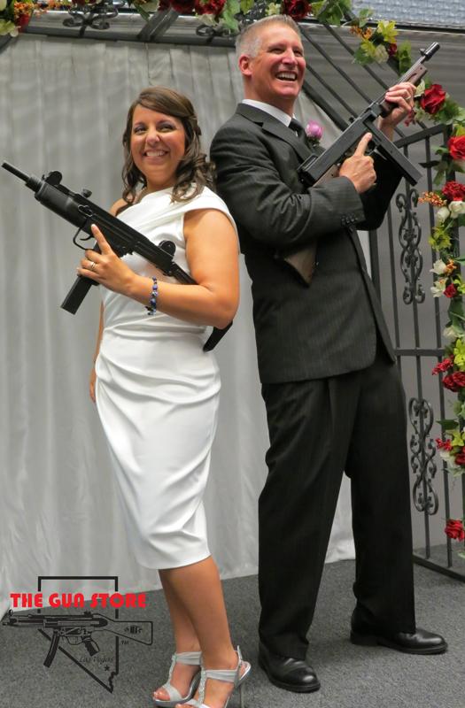 Posing for wedding pics at The Gun Store (Image: The Gun Store)